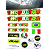 Kit Adesivos The Doctor Pequeno Valentino Rossi (90040700)
